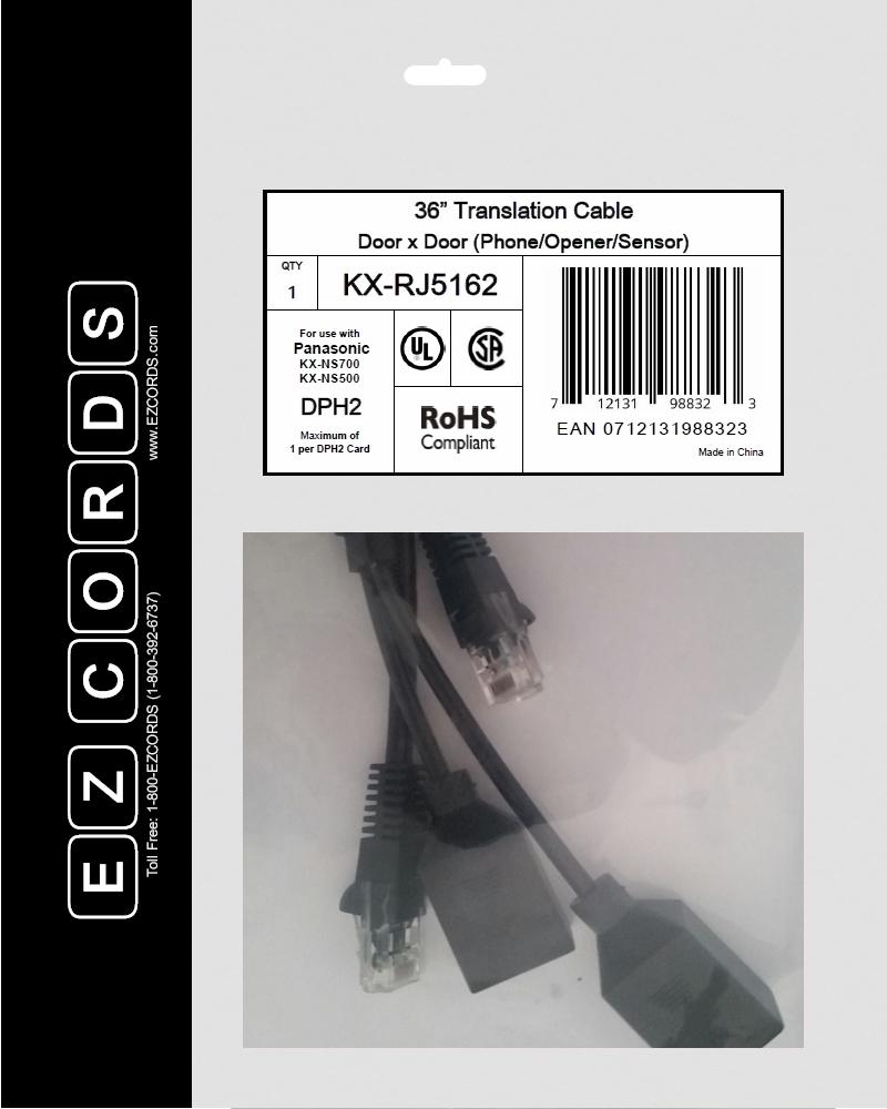 KX-RJ5162 – Panasonic 2-Port Door Controller Wiring Harness