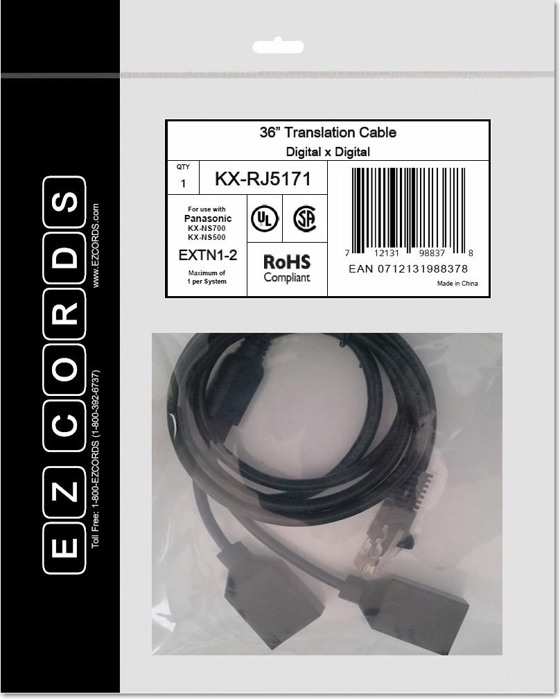 Kx Rj5171 Panasonic 2 Port Digital Extension Wiring Harness Ezcords