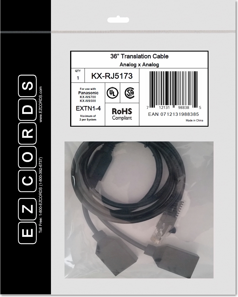 kx rj5173 panasonic 2 port analog extension wiring harness ezcords rh ezcords com Panasonic GF1 Panasonic GF1