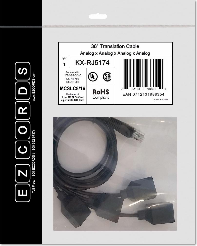 kx rj5174 panasonic 4 port analog extension wiring harness ezcords rh ezcords com Panasonic Global Panasonic Global
